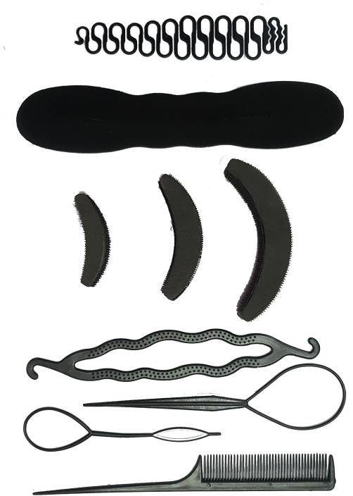 BELLA HARARO 9 Pc. set Braid Maker Puff Bumpit Hair Styling Combo Hair Accessory Set
