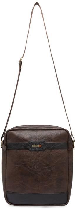 Buy Spykar Messenger Bag Brown Online   Best Price in India ... f73fcc8b7ac3c