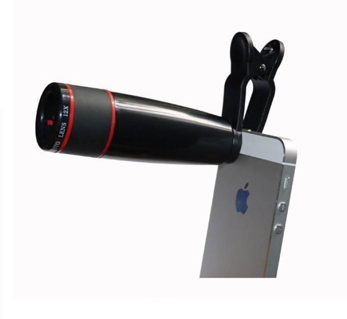 Vidya Ventures Universal 12X Zoom Mobile Phone Telescope Lens with Adjustable Clip Mobile Phone Lens (Telephoto)