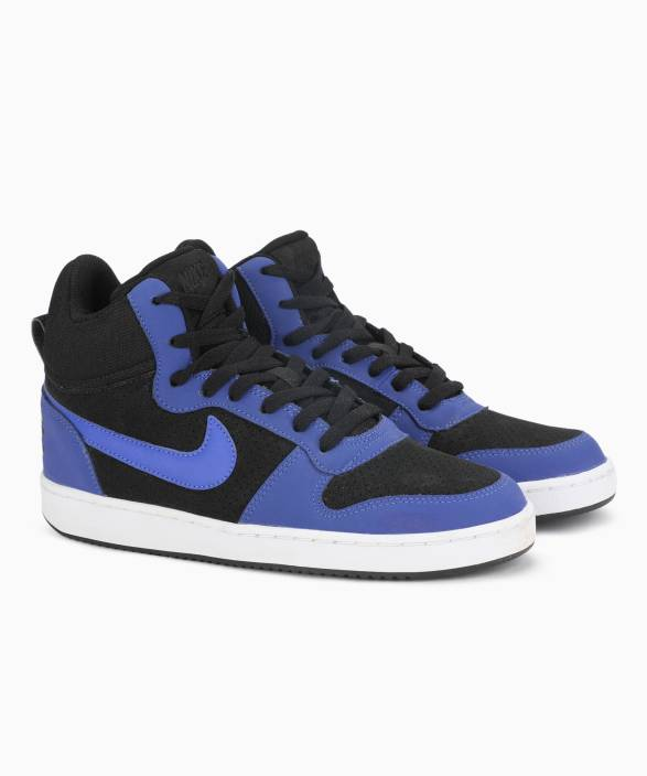 Nike COURT BOROUGH MID Sneakers For Men - Buy BLACK PARAMOUNT BLUE ... 9046e08c8