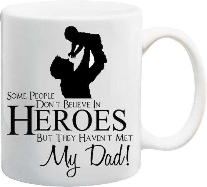 MEYOU Worlds Best Dad Gift For FatherDadPapaFathers Day Birthday Ceramic Mug 350 Ml