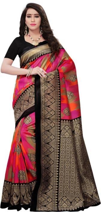 Saara Printed Bhagalpuri Silk Saree