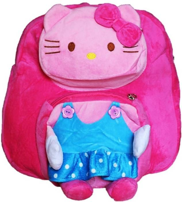 toyjoy Hello kitty 3 compartment school bag 35cm for kids  girls  plush  soft cartoon backpack - 35 cm (Pink) 5bf4c99e2f5da