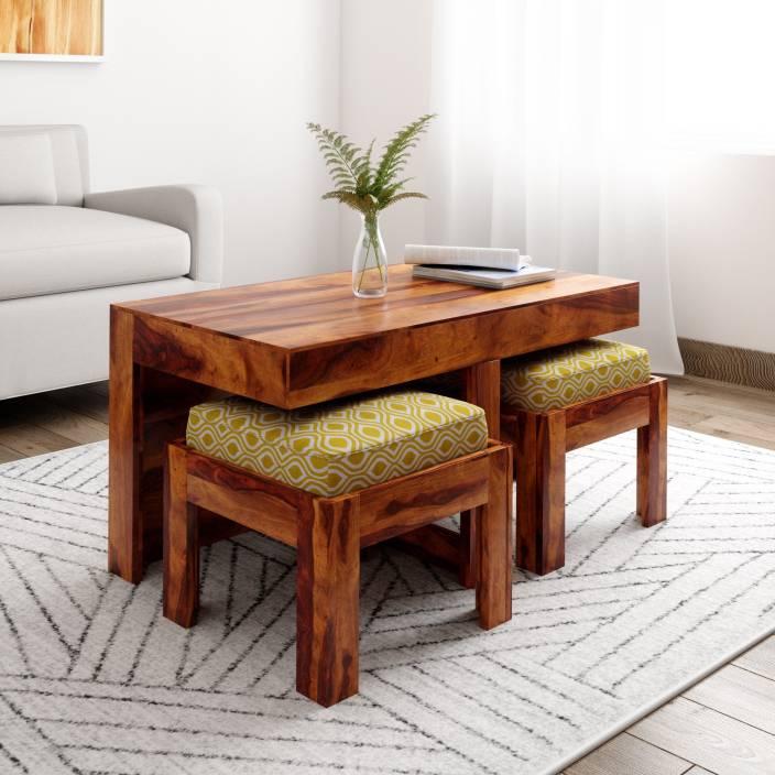 Induscraft Kaliedo Sheesham Solid Wood Coffee Table Price In India
