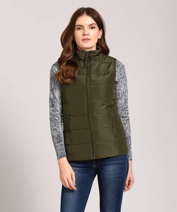 Van Heusen Sleeveless Solid Women Jacket