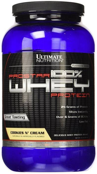 Ultimate Nutrition Prostar 100% Whey Protein Whey Protein (907 g, Cookies 'n Cream)
