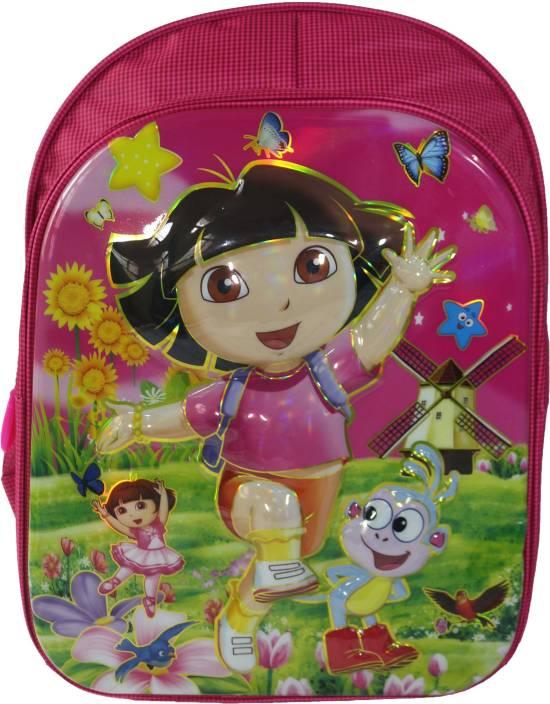 Barbie 3D Dora The Explorer backpack Waterproof School Bag (Pink 3db9a6d410ebf