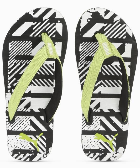 f5c96788634f Puma Mykonos Graphic IDP Acid Lime-Puma Black Flip Flops - Buy Green Color Puma  Mykonos Graphic IDP Acid Lime-Puma Black Flip Flops Online at Best Price ...