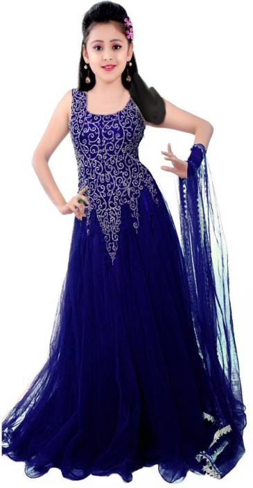 70bb319721b MF Retail Girls Maxi Full Length Casual Dress (Dark Blue