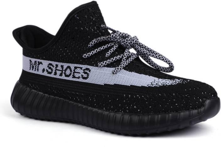 1794f8d8c Mr.SHOES 1838-1- YZY-BLK wht BOOST 350 V2 Running Shoes For Men (Black)
