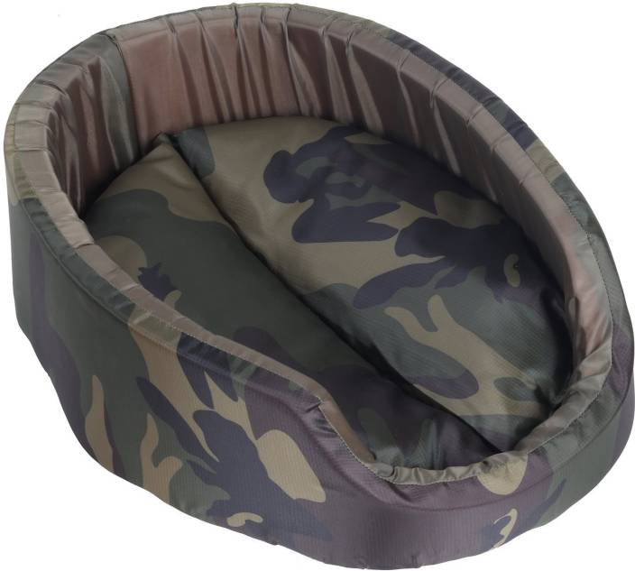 SRI Round Army Printed Bed Sofa For Puppy & Cat S Pet Bed