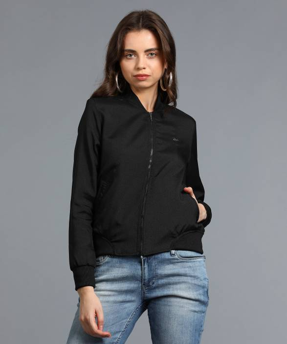 Spykar Full Sleeve Solid Women Jacket
