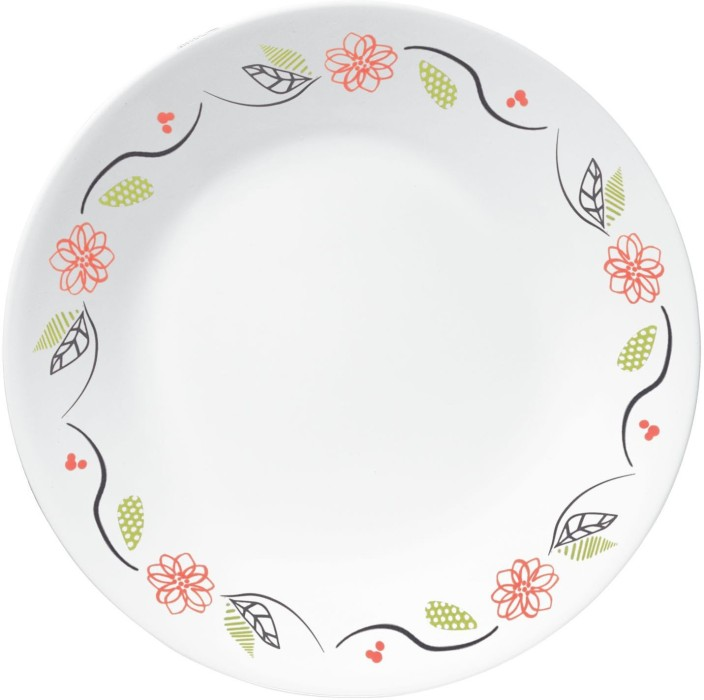 prodigious Corelle Luncheon Plates Open Stock Part - 11: CORELLE Livingware Dinner plates- Tangerine Garden (Pack of 6) Plate Set