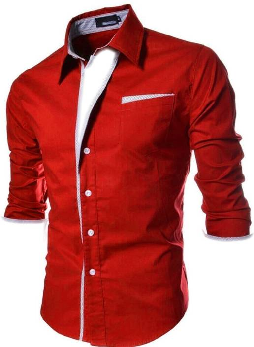 60f5bd2e N T FASHION Men's Self Design Party Red Shirt - Buy N T FASHION Men's Self  Design Party Red Shirt Online at Best Prices in India | Flipkart.com