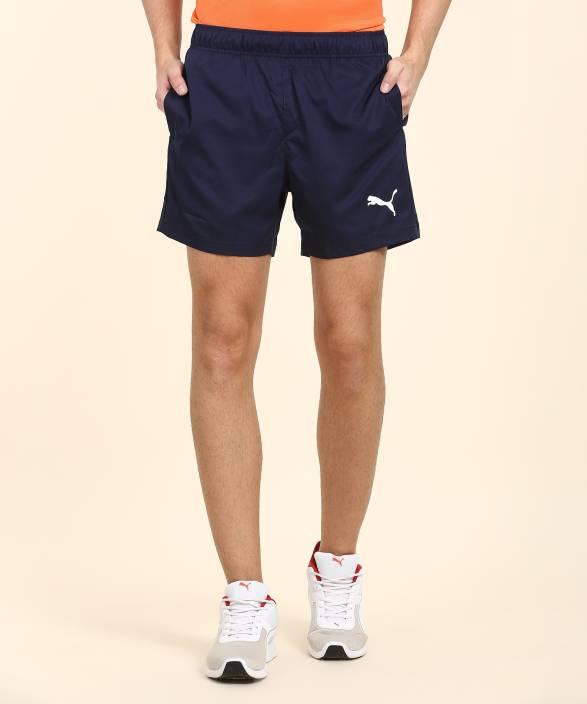 595db90c774d Puma Solid Men Dark Blue Running Shorts - Buy Puma Solid Men Dark Blue Running  Shorts Online at Best Prices in India