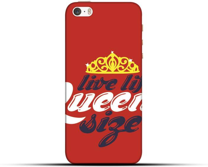 the latest b478b 80f92 Saavre Back Cover for Live Life Queen Size for IPHONE 5S - Saavre ...
