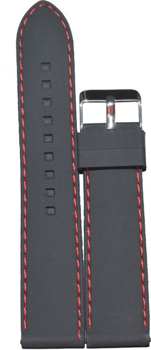 2196059a1bc Kolet Plain Red Stitched 22B 22 mm Silicone Watch Strap Price in ...