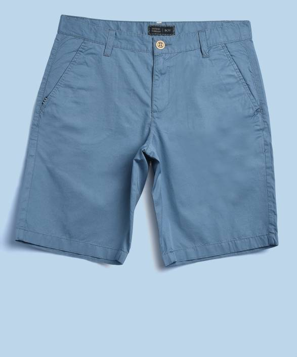650d7c19 Indian Terrain Short For Boys Casual Solid Cotton Price in India ...