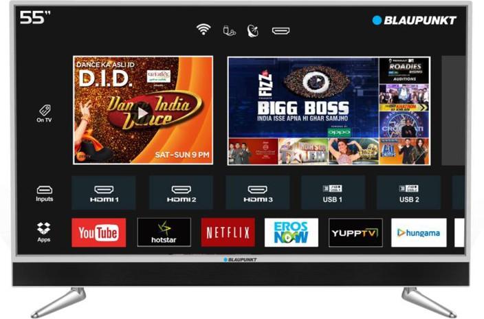 Blaupunkt 140cm (55 inch) Ultra HD (4K) LED Smart TV with In-built Soundbar (BLA55AU680)