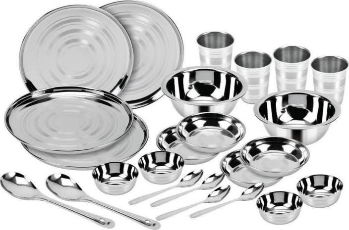 Royal Eliba Stainless Steel 24 Piece Dinner Set Kitchen Set Silver