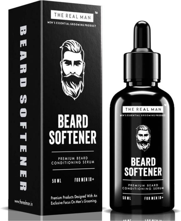 THE REAL MAN All New Beard Softener & Moisturizer for Men 50ml  Conditioner  and Softener - Argon Oil | Jojoba Oil| Tea tree Oil |Vitamin E Acetate |