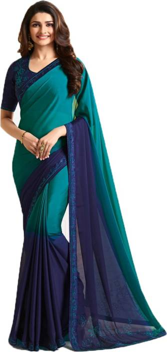 43a3f1d7ef1 Bombey Velvat Fab Self Design Daily Wear Silk Saree (Blue
