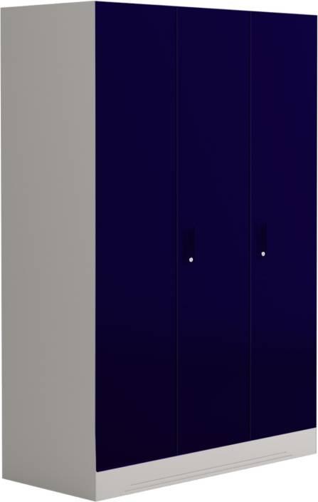 7205f746dfd Godrej Interio Slimline 3 Door With Locker Metal Almirah (Finish Color -  Textured Ultra Marine Blue)