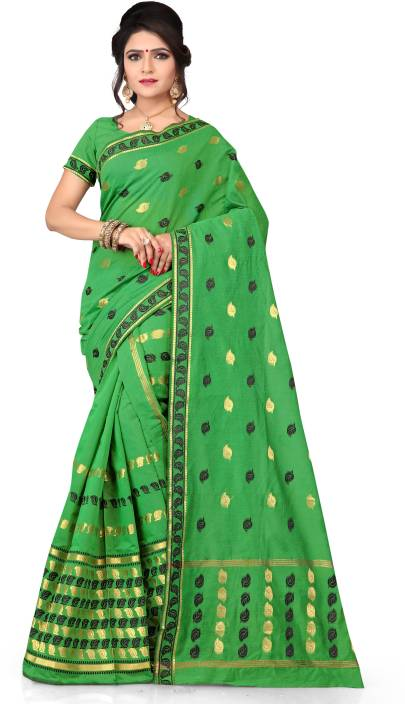 Skiran's Woven Mekhela Chador Cotton Polyester Blend Saree