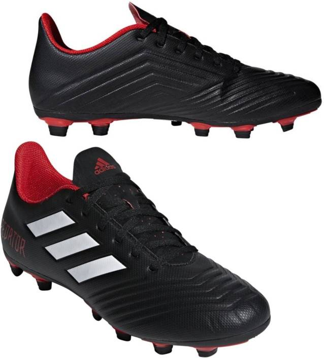 1194e537d ADIDAS PREDATOR 18.4 FLEXIBLE GROUND BOOTS Football Shoes For Men (Black)