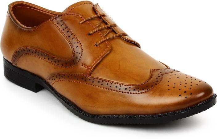 a3a82c993877fa BUWCH Men Formal Brogue Shoe Party Wear For Men - Buy BROWN Color ...