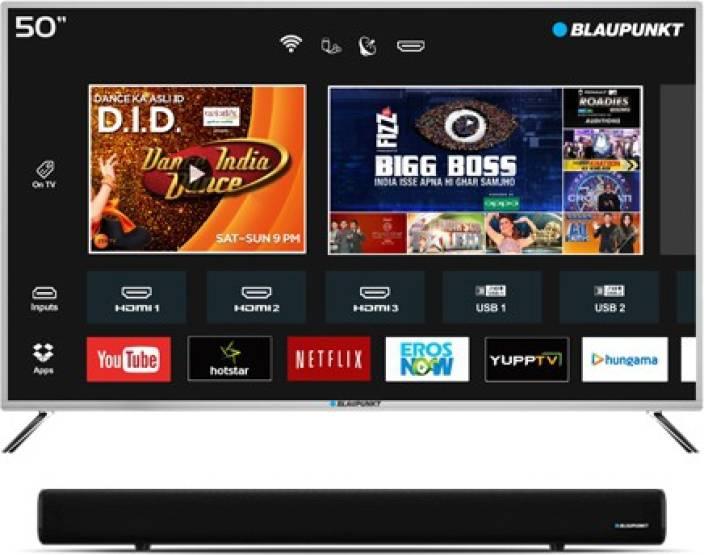 Blaupunkt 127cm (50 inch) Full HD LED Smart TV with External Soundbar