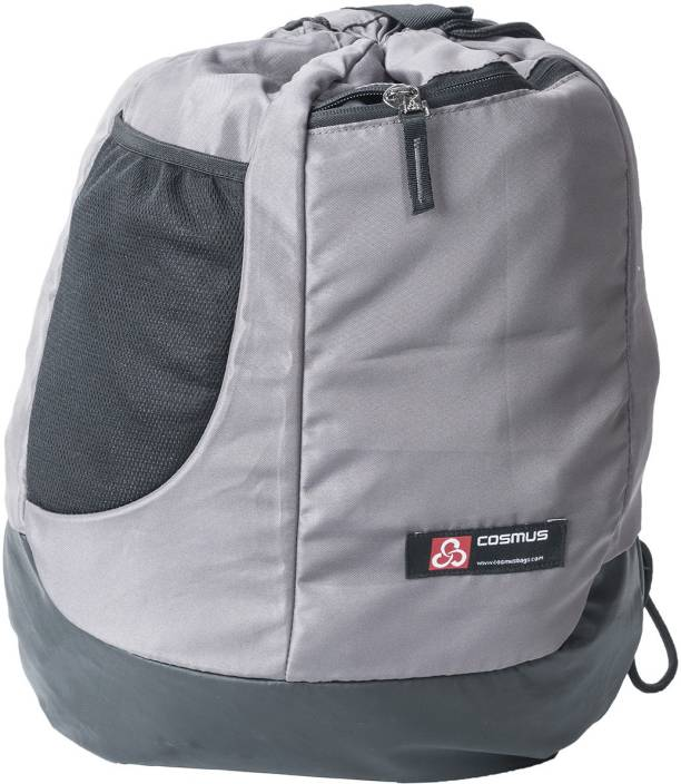 7cc52d65bcc Cosmus Carryall Light weight drawstring backpack bag - Stylish Biker Grey  Polyester Dori Bag 18 L Backpack (Grey)