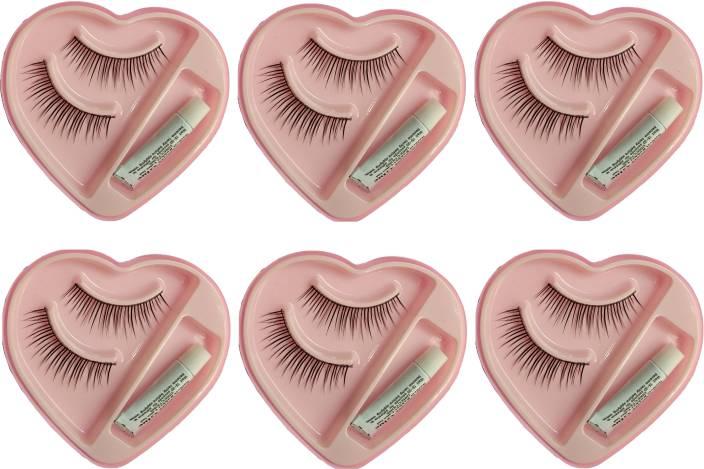 83397919b05 CartKing False-Fake Eyelashes With Glue Set Natural (6) - Price in ...