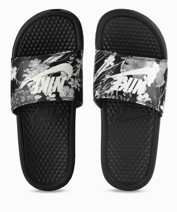 reputable site 6fc69 f033a Nike WMNS BENASSI JDI PRINT Slides - Buy BLACK SUMMIT WHITE Color Nike WMNS  BENASSI JDI PRINT Slides Online at Best Price - Shop Online for Footwears  in ...