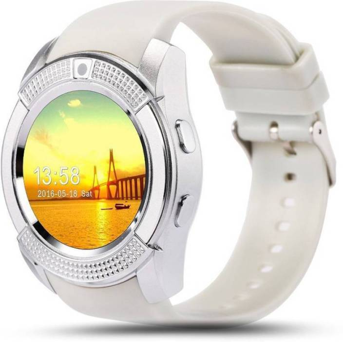 4222f5aeb55 Liddu Certified Touch Screen Bluetooth Mobile Phone Wrist Watch with Camera    SIM Card Support 4G Compatible White Smartwatch (White Strap Free Size)