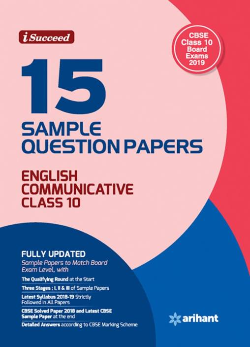 15 Sample Question Papers English Communicative Class 10 CBSE: Buy