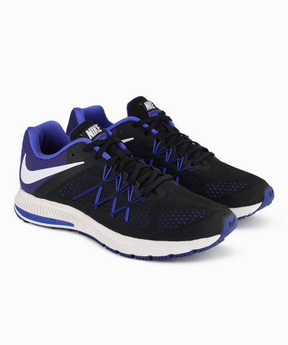 799e6722eaae Nike ZOOM WINFLO 3 Running Shoes For Men - Buy BLACK WHITE-PARAMOUNT ...