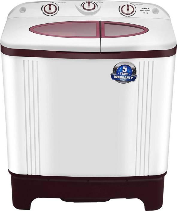 Intex 6.2 kg Semi Automatic Top Load Washing Machine Red