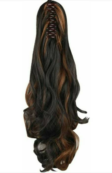 Alizz High Lighted Step Cut Clip On Clutcher Hair Wig For Girls Hair