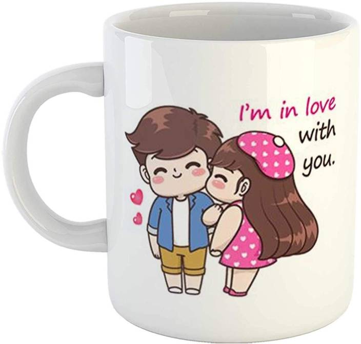 Ikraft Cute Love Couple Cartoon Printed Coffeemug I M In Love With