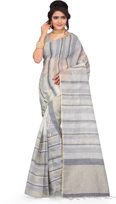 Skiran's Woven Mekhela Chador Linen Saree
