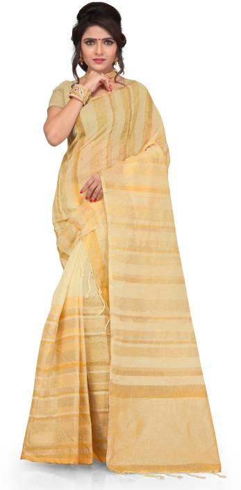 Skiran's Striped Mekhela Chador Linen Saree