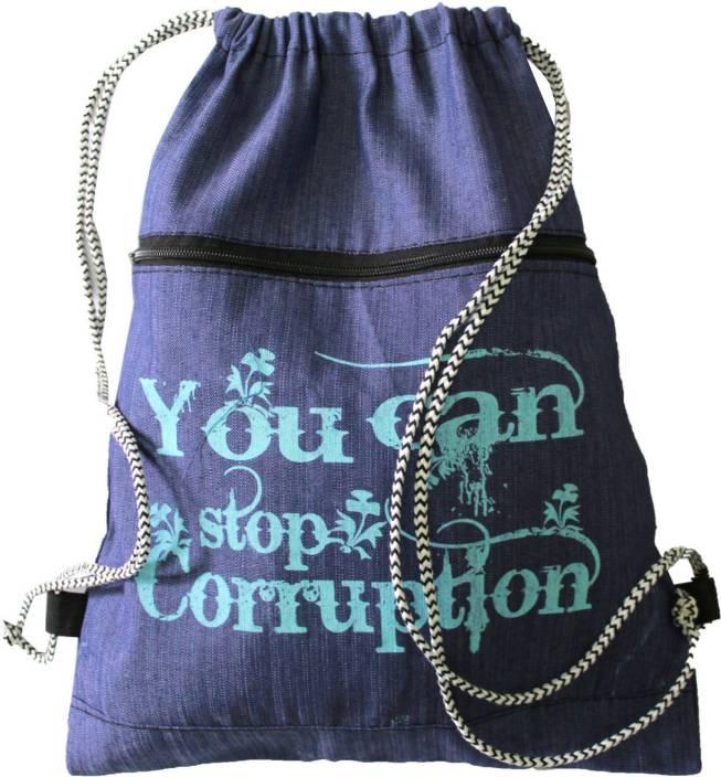 Best Bags Blue Jeans Drawstring Dori Bag 17 L Backpack