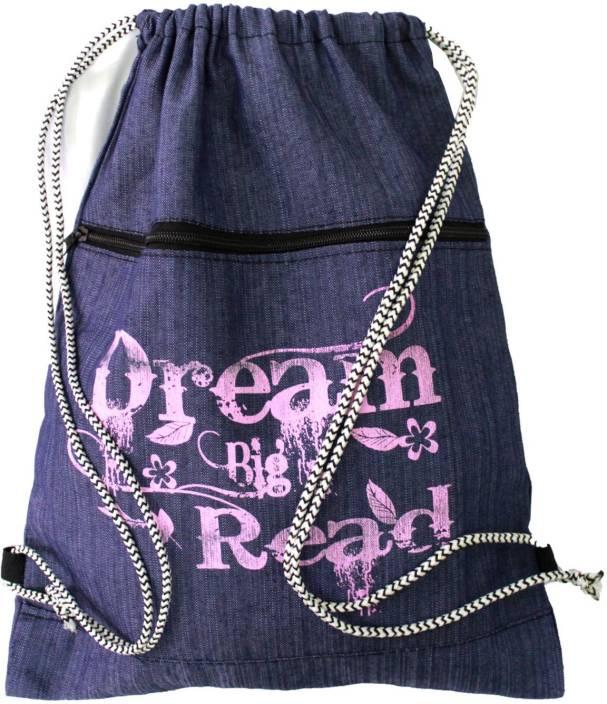 Best Bags Blue Jeans Drawstring Bag 17 L Backpack