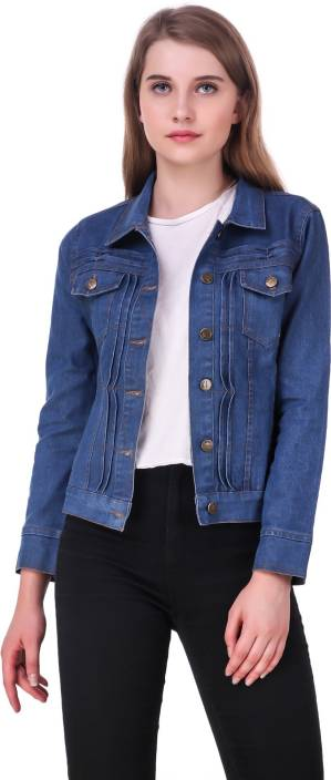 5294666a030 Clo Clu Full Sleeve Solid Women Denim Jacket - Buy Clo Clu Full Sleeve  Solid Women Denim Jacket Online at Best Prices in India