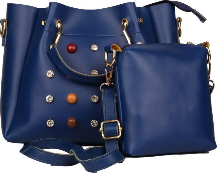 bagesi Women Evening/Party, Casual Blue PU Sling Bag