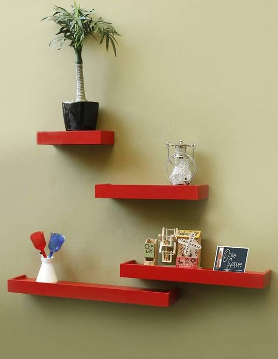 13aeee2b9c9 Onlineshoppee Rectangular Wooden Wall Shelf Price in India - Buy ...