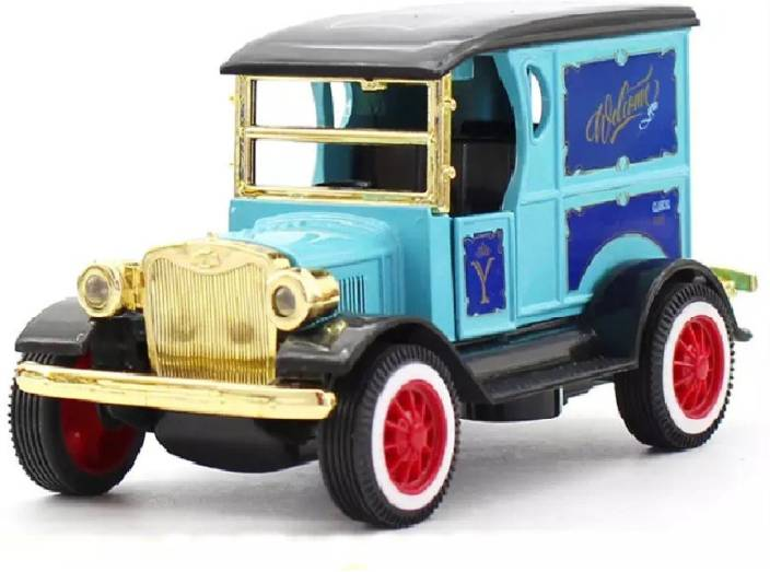 Miss & Chief Amazing 1:32 Diecast Metal Vintage VIP Auto Pull Back Car Toy  with Light and Sound Effects