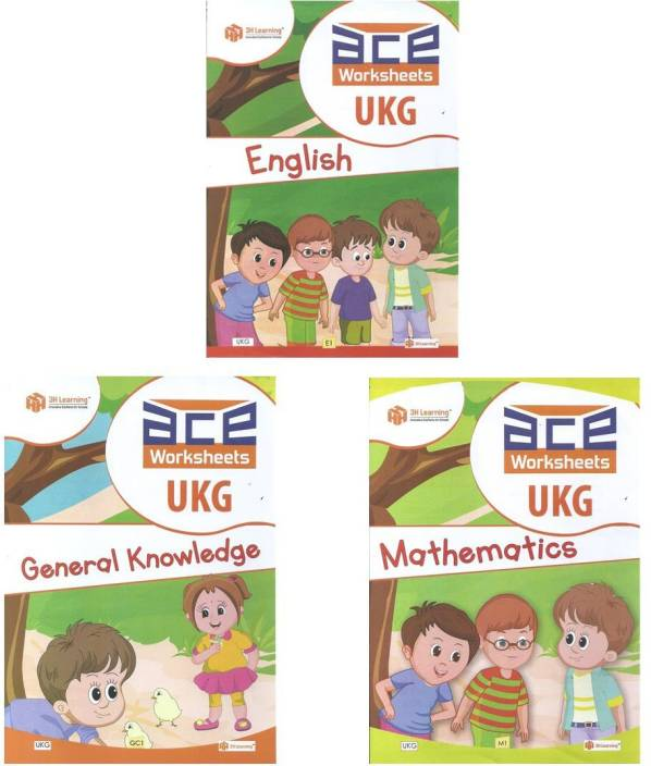 UKG Kids 272 Pages ACE All-In-One Early Learning Worksheets