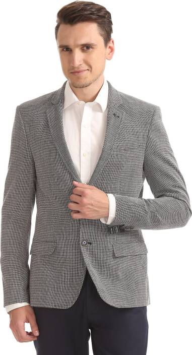 35d43ab540d8 Arrow Solid Single Breasted Formal Men Blazer - Buy Arrow Solid ...